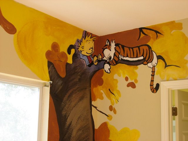 Mural Calvin And Hobbes Child S Room Katy