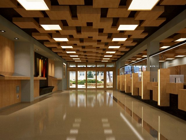 Post Office Interior Design Viliam Soltys Civil Engineering Architecture