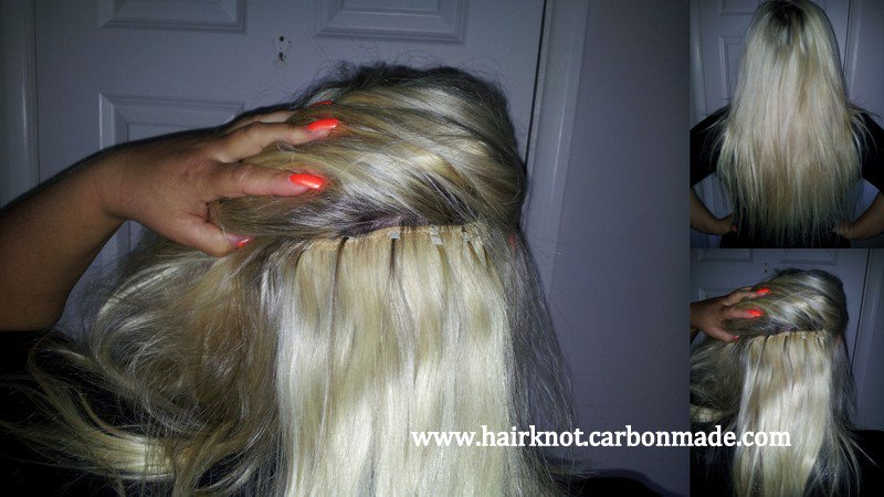 micro rings knot london micro ring weft hair extension fitting