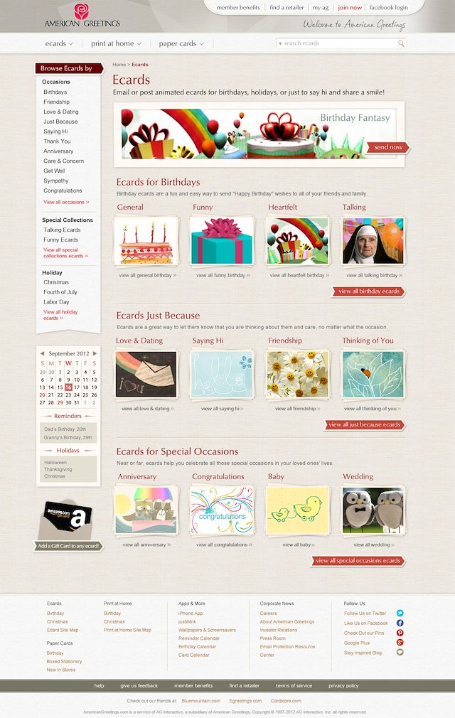 Paul armstrong art direction design american greetings website american greetings website m4hsunfo