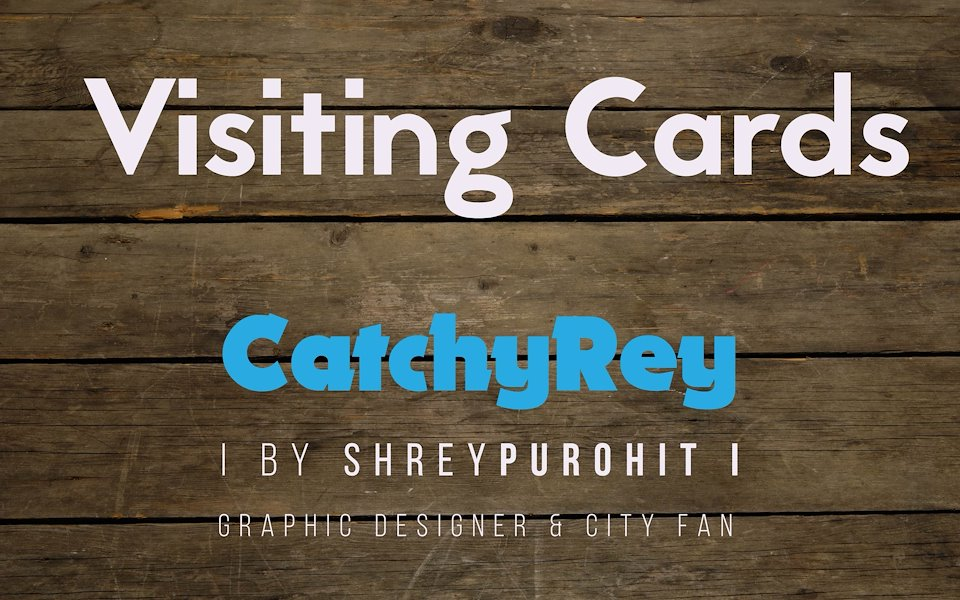 Shrey Purohit - Visiting Cards