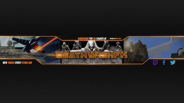 youtube channel art gift for deathwishfk