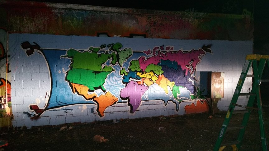 World map painting for raise up movie gumiabroncs Choice Image