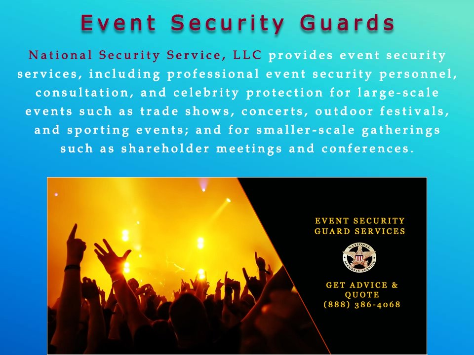 National Security Services Guard Service Guards Local Companies Retail
