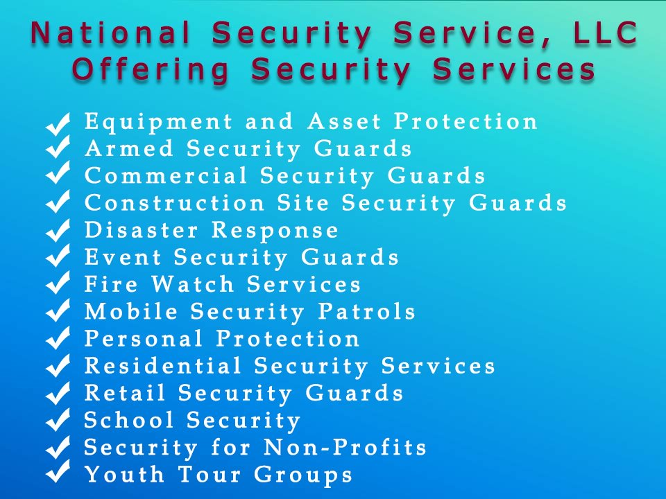 Security Guards National Service Llc