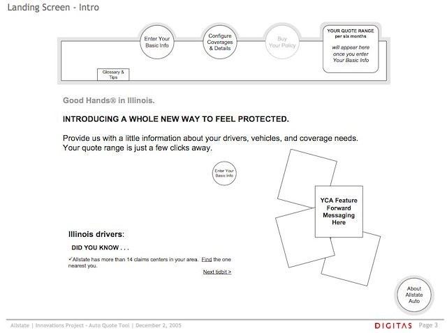 Whitney Hess User Experience Designer Auto Insurance Quote Redesign Extraordinary Allstate Auto Insurance Quote