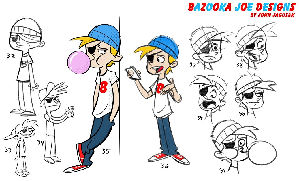 Salary Of Character Designer : John jagusak character design bazooka joe designs