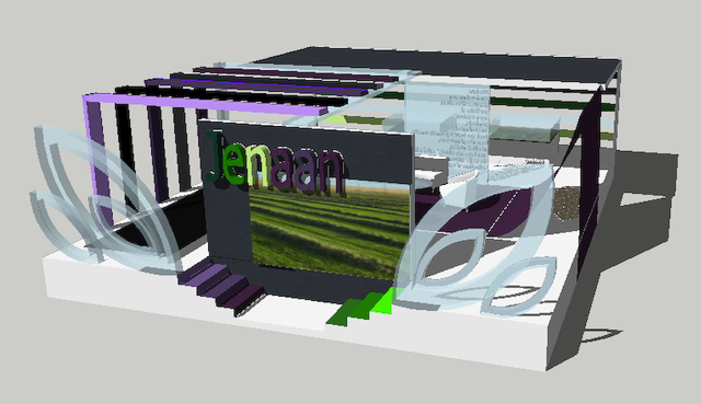 Exhibition Stand Sketchup : Exhibition stand d model