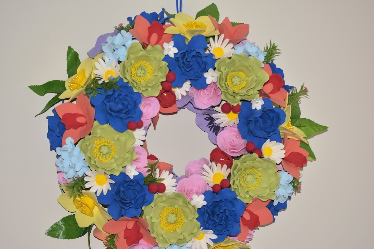 Welcome to the world of creative craft deco clay flower arrangement flower wreath izmirmasajfo Images