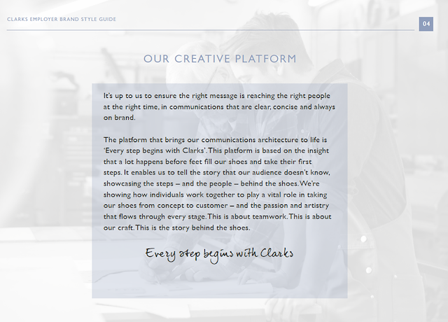 Clarks employer brand and website