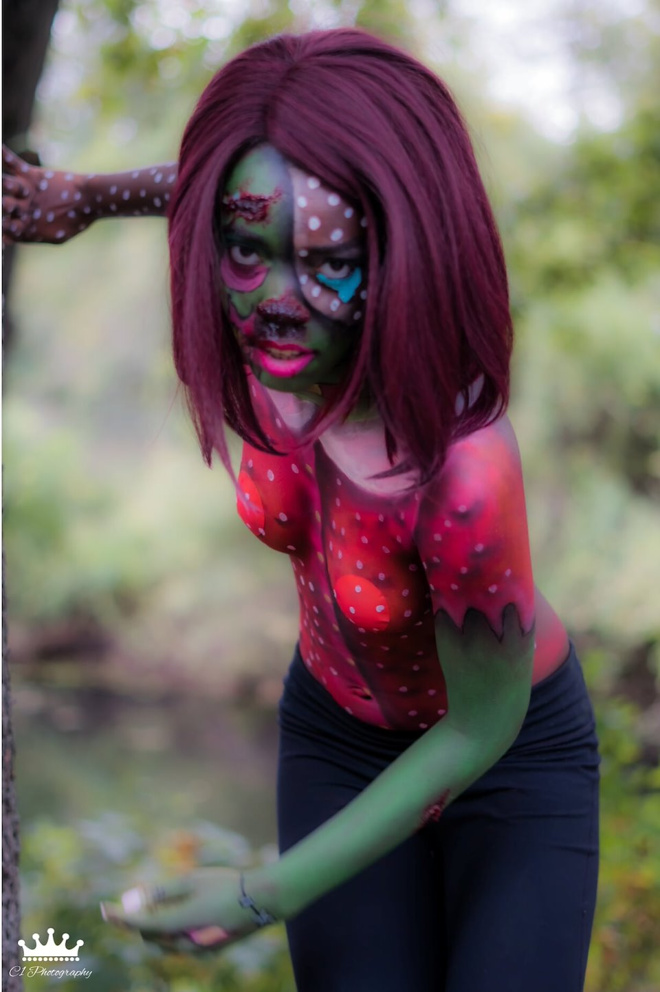 Pop Art Zombie Body Paint Makeup By Lex