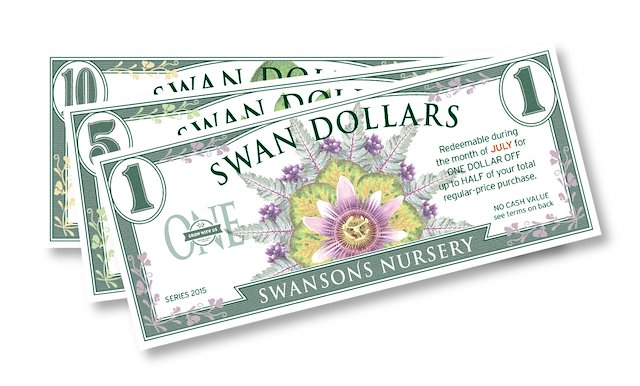 Design Ilrations For Swan Dollars Annual Coupon Program