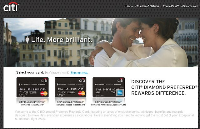 Citi Credit Cards Web Emails Landing Pages Mitch Lemus